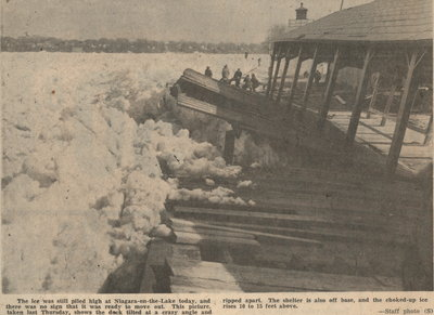 Ice jam on Niagara River, 1955.