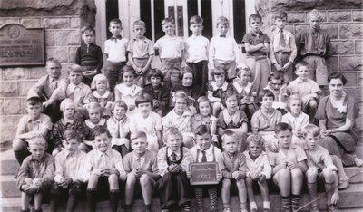 Laura Secord School in Queenston - Class photo of 1937 Junior Class