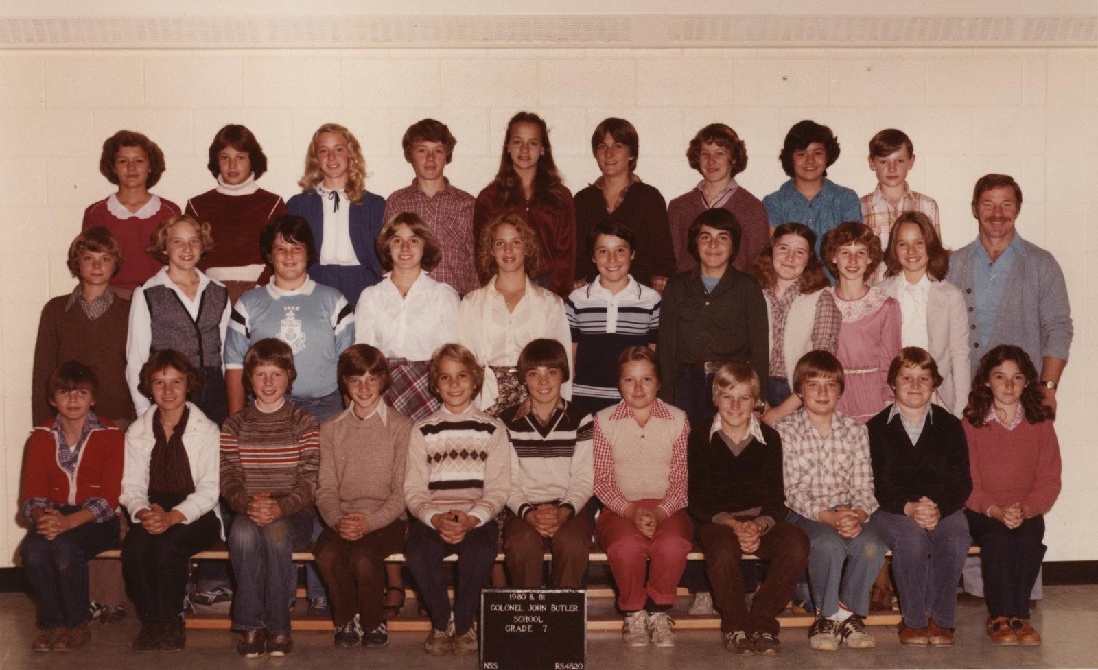Colonel John Butler Public School, 1980-81, grade 7