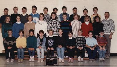 Colonel John Butler Public School, 1988-89, grade 6 & 7