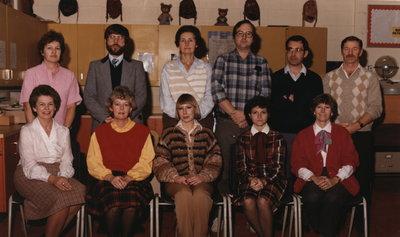 Colonel John Butler Public School Staff, 1982-83