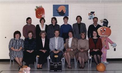 Colonel John Butler Public School Staff, 1987-88