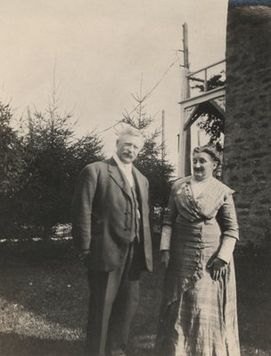 Charles Matthew Lowrey with his wife Helen Emily