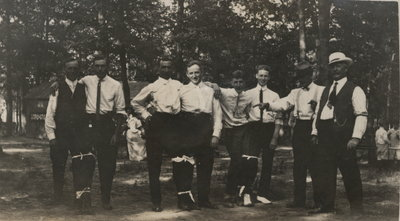 Charles Matthew Lowrey with his friends