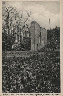 Ruins of William Lyon Mackenzie's Printing Office, Queenston,Ontario