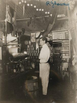 Robert J. Lowrey inside General Store in St. Davids