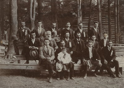 Charles Matthew Lowrey with a group of men