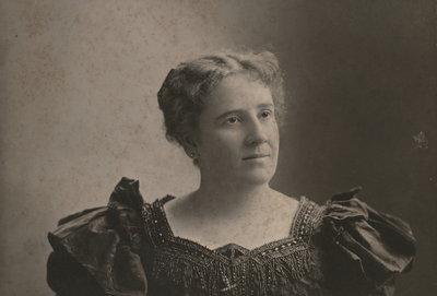 Studio portrait of Hannah Catherine (Lowrey) Woodruff