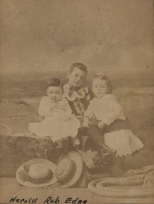 Photograph of Harold, Robert and Edna Lowrey
