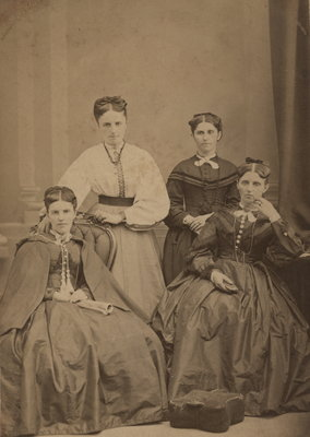 Photograph of Mary Kershaw, Ellen Wilkinson, Salisbury and Ann Jane Clement