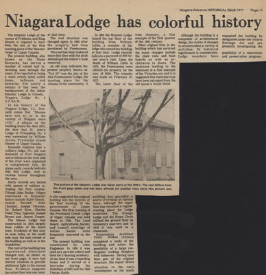 Niagara Lodge has colorful history
