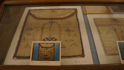 Masonic apron, Niagara Lodge, circa 1800