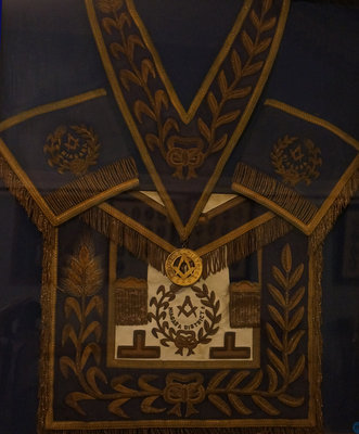Grand Lodge regalia of Rt. Wor. Bro. J. H. Brown
