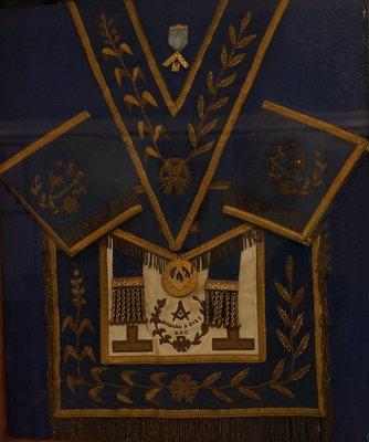 Grand Lodge regalia of Rt. Wor. Bro. G. W. Irvine