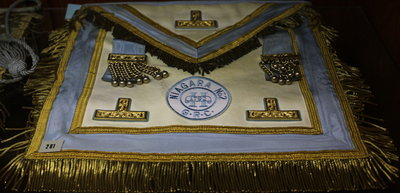 Worshipful Master's aprons worn by W. Bro. A. Keith Woodhouse