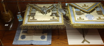 Various masonic artifacts, Niagara Lodge No. 2
