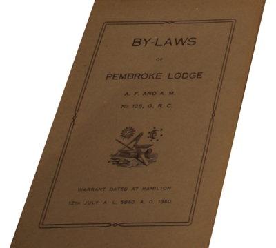 By-Laws of Pembroke Lodge No. 128