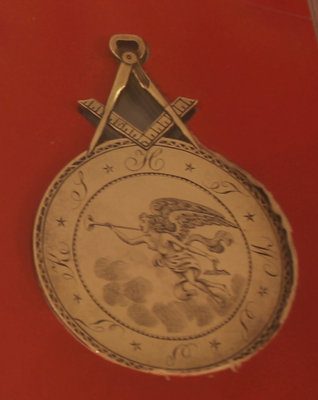 Masonic medallion engraved to Abraham Genung, 1798
