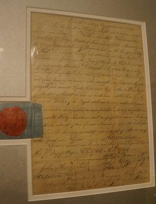 Masonic certificate of  Daniel Service (Servos), 1784