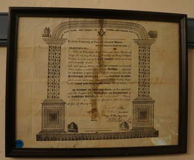 Masonic certificate of John Law, Lodge No. 14 in Upper Canada