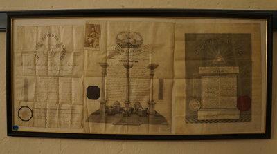 Masonic Certificates of William McGhie, 1861-67