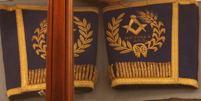 Cuffs for the regalia of the District Deputy Grand Master, Niagara District 'A'