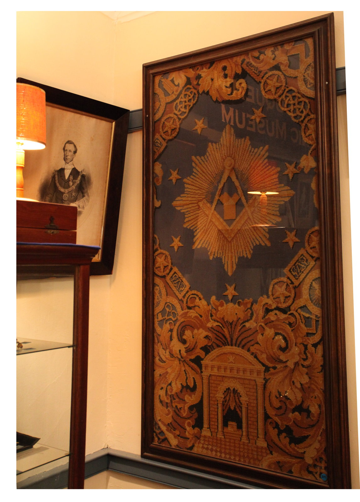 Piece of the Lodge Room carpet, 1911