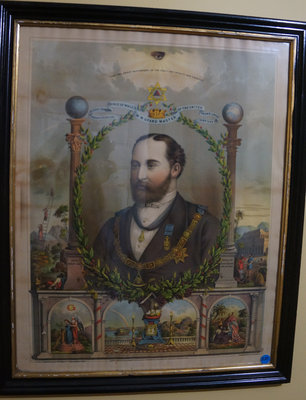 Lithograph of H.R.H. Albert, Prince of Wales, M.W. Grand Master of the United Grand Lodge of England, 1875