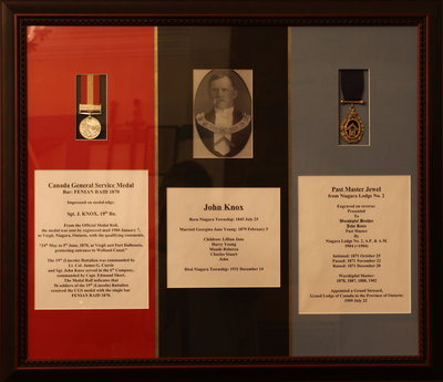 Portrait of John Knox and two of his medals