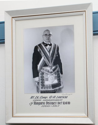 Portrait of Charles A. Larson, Grand Superintendent of Niagara District No.7, 1956-1957