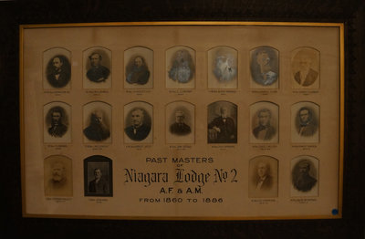 Past Masters of Niagara Lodge, No. 2, 1860-1886
