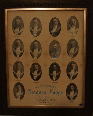 Past Masters of Niagara Lodge, No. 2, 1886-1907