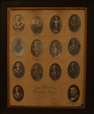 Past Masters of Niagara Lodge, No. 2, 1908-1922