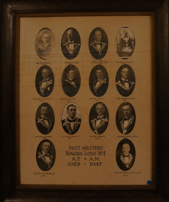 Past Masters of Niagara Lodge, No. 2, 1923-1937