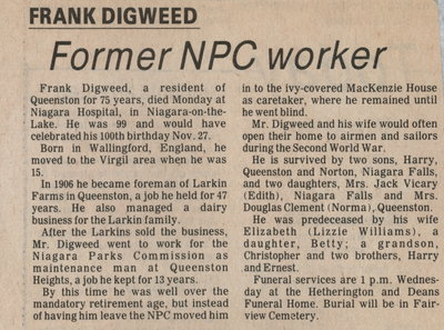 Frank Digweed, former worker for Larkin farms and NPC
