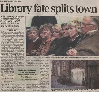 Niagara-on-the-Lake Library fate splits town
