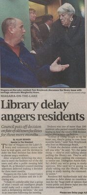 Library delay angers residents