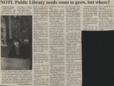 NOTL Public Library needs room to grow, but where?