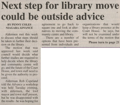 Next step for library move could be outside advice