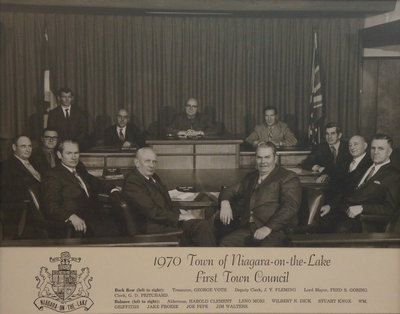 Town of Niagara-on-the-Lake Council, 1970