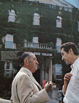 Brian Doherty and Tom Burrows in front of the Court House Theatre