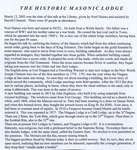 The historic masonic lodge