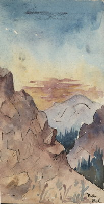 Sketch of Pike's Peak by Norman A. Armstrong
