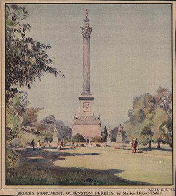 Brock's Monument, Queenston Heights, by Marius Hubert Robert
