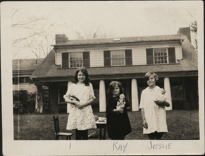 Photograph of three girls including Kay and Jessie
