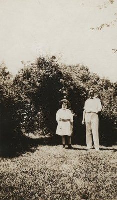 "Dorothy Walsh and A.D. Armstrong on ""Riverside"" Lawns"