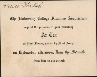 Invitation to Hart House Tea