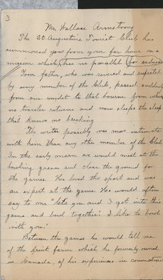 Letter to Wallace Armstrong from Thomas J. Britt