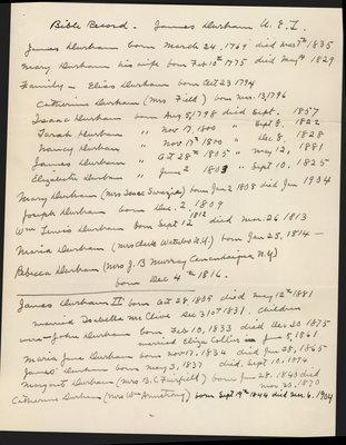 Bible Record of James Durham U.E.L.