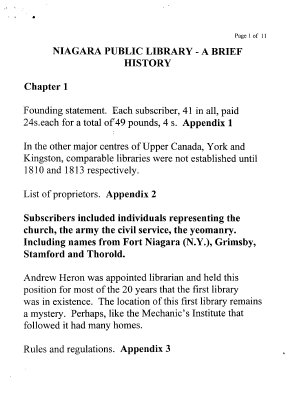Niagara Public Library - A Brief History